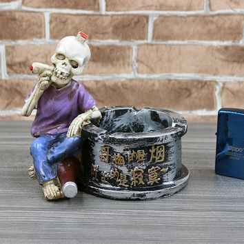 Creative personality fashion ashtray decorative vintage ornaments skull ashtray