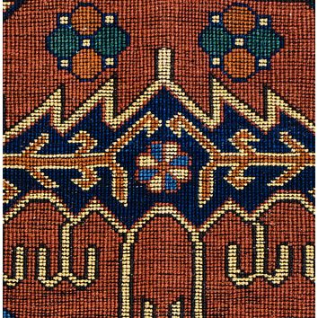 Oriental Kehghai Turkman Wool Tribal Rug, Red/Green