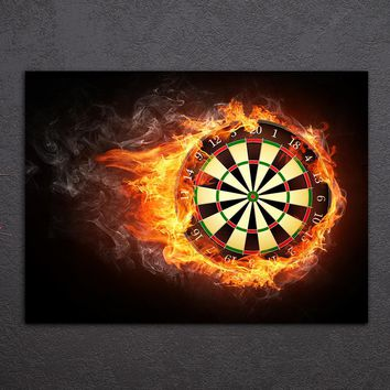 Dart Board Darts Poster Wall Art Home Decor Canvas Panel Picture Print