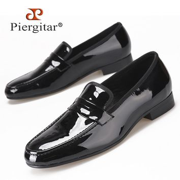 Classic Designed Black Patent Leather Shoes Men Party and Wedding Loafers