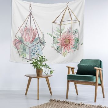 Hanging Planters Wall Tapestry