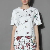 Serenity Floral White top White