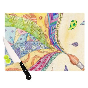 "Catherine Holcombe ""The Painted Quilt"" Cutting Board"