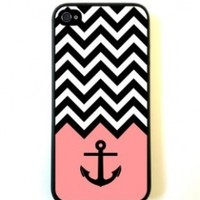 Anchor Coral Chevron iPhone 5 Case - For iPhone 5/5G - Designer TPU Case Verizon AT&T Sprint:Amazon:Cell Phones & Accessories