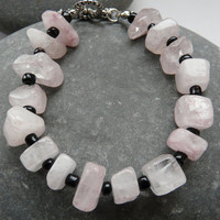 Rose quartz bracelet Free Worldwide Shipping