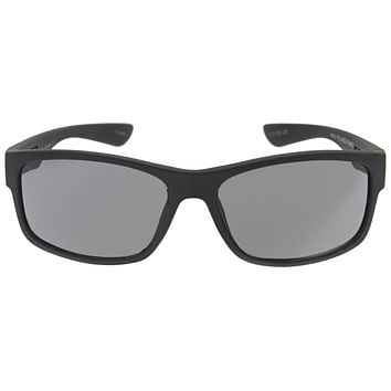 Men's Rubberized Matte Shark Fin Temple Sport Sunglasses C419