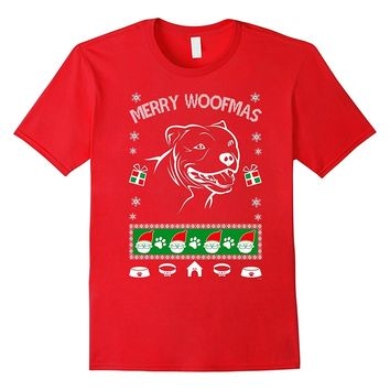 American Pitbull Terrier Ugly Xmas sweater look tshirt gift