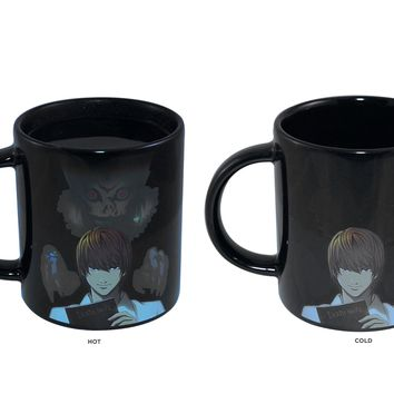Death Note OFFICIAL Heat-Changing Ceramic Coffee Mug, 20oz Black