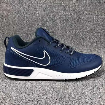 NIKE Fashion Women/man Running Sport Casual Shoes Sneakers Navy blue G-CSXY