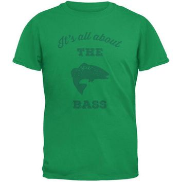 LMFCY8 Paws - It's all about the Bass Green Youth T-Shirt