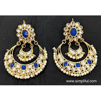 Kundan replica Earring - Design 2