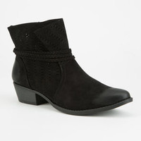 QUPID Perforated Wrap Womens Boots