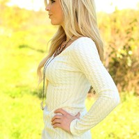 Willing & Cable Knit Top in Ivory