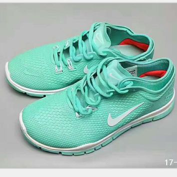 NIKE Fashion Women sports running shoes sneakers mint green-white hook H-PSXY