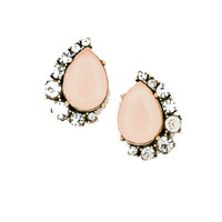 Darling Diamond Studs in Pale Pink