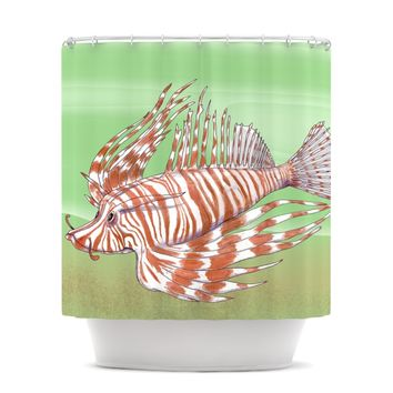 "Catherine Holcombe ""Fish Manchu"" Shower Curtain"