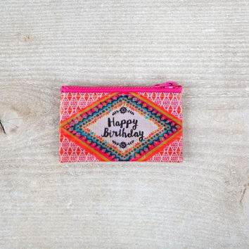 Recycled Zip Card Holder