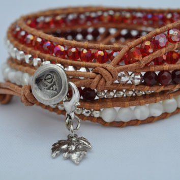 Alpha Phi Sorority 5 Wrap Bracelet