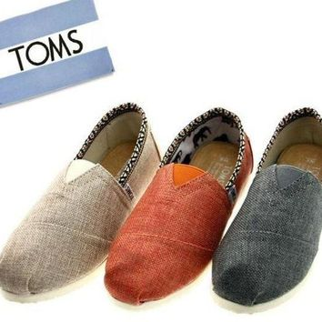 DCCKIG3 TOMS Women Fashion 'National lace' FLAT SHOES CLASSICS FLAT TOMS SHOES