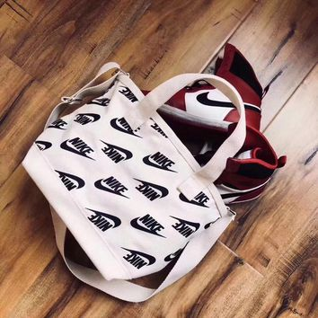 """Nike"" Women Sport Casual Print Letter Canvas Single Shoulder Messenger Bag Handbag"