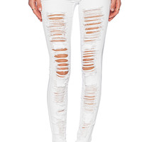 BLANKNYC Distressed Skinny in White