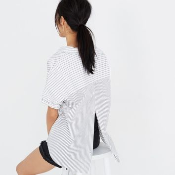 Courier Button-Back Shirt in Stripe-Play : shopmadewell button-up & popover shirts | Madewell