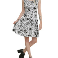 The Nightmare Before Christmas Character Collage Dress