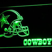 Dallas Cowboys Helmet Neon Signs Led Signs with On/Off Switch 7 Colors