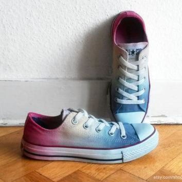 CREYON icy rainbow ombre converse dip dye upcycled vintage sneakers all stars chucks eu 3