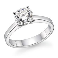 1/2 ctw. Round Diamond Solitaire Engagement Ring in 14k White Gold