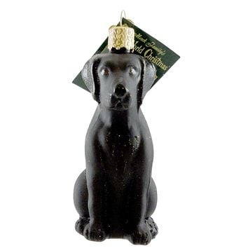Old World Christmas LABRADOR RETRIEVER BLACK Ornament Dog Lab Best Friend 12385