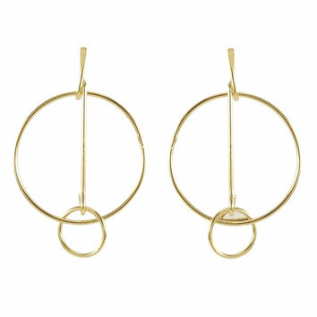 Orbit Gold Circular Geo Earrings