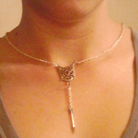 Inspired by the hunger games Arrow Necklace from Wild Ivy