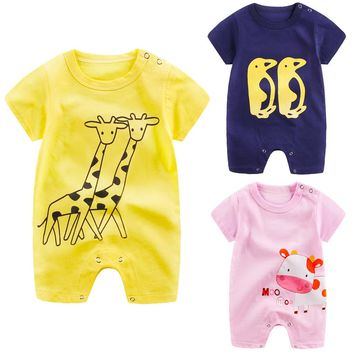 ROMIRUS 2017 baby boy set clothing Newborn jongen Infant Baby infant Boy Girl Cartoon Romper Cute Jumpsuit Climbing Clothes