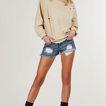 Own The Streets Distressed Top