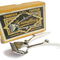 Hairclipper in Original Box . Tondeuse Merveilleux . French Barber Shop Tools Razor . Hair Trimmer .