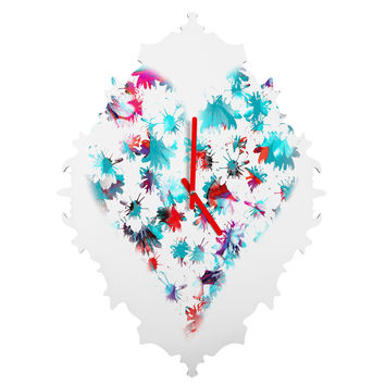 Aimee St Hill Floral Heart Baroque Clock
