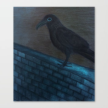 Raven Eye Canvas Print by ES Creative Designs