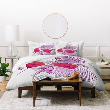 Gabi Sea Leaves Duvet Cover