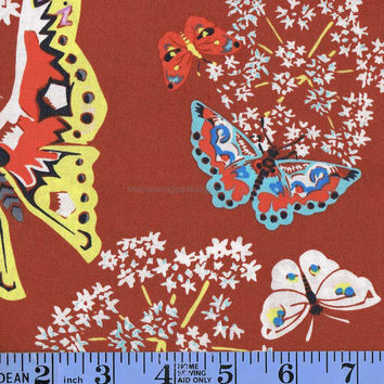 Butterfly Print Cotton Fabric, Amy Bulter Alchemy Organic Cotton, Queen Anns Butterflies, Cotton Farbic, by the yard, Quilters Cotton Fabric