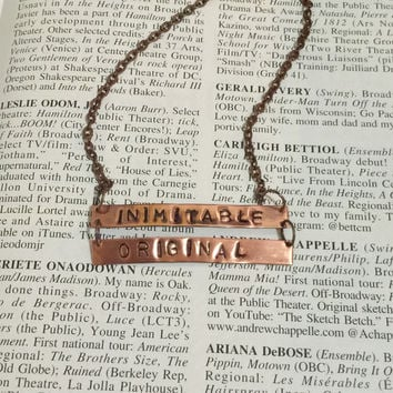 Hamilton Broadway Wait For It Lyrics Double Bar Necklace
