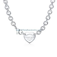 Find The Last Cheap Tiffany & Co Engraved Heart Tag Choker Necklace In Tiffanybluejewelry.com