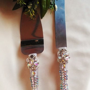 Silver Wedding Cake Server Set Wedding Cake Knife Knife Cake Cutting Set Cake Servers Wedding Wedding Cake Server silver cake knife set of 2