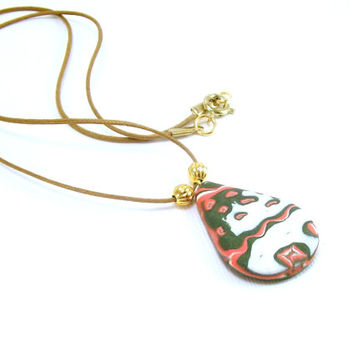 Southwestern Pendant / Polymer Clay Jewelry / Abstract Wearable Art