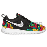 Nike Roshe Run Black White Marble Floral Custom