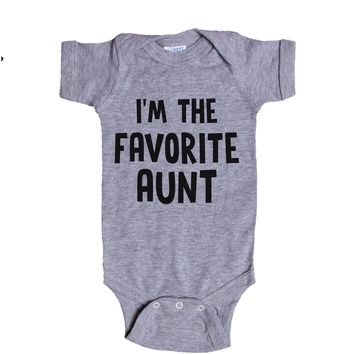 I'm The Favorite Aunt Baby Onesuit