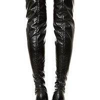 The Ultimecia Boot in Stretch Black (Exclusive)
