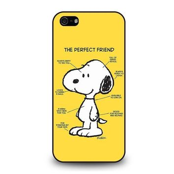snoopy dog perfect friend iphone 5 5s se case cover  number 1