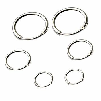New Womens Beauty Fashion Silver Small Large Hoop Drop Round Durable Earrings