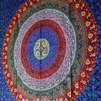 Large Hippie Mandala Tapestry Wall Hanging, Mandala Tapestry, Mandala Wall Art Mandala Wall Hanging Indian Tapestries Bohemian tapestry